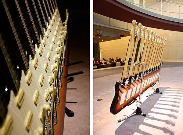 Удивительные гитарные скульптуры