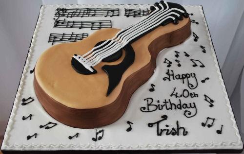 Торт для гитариста