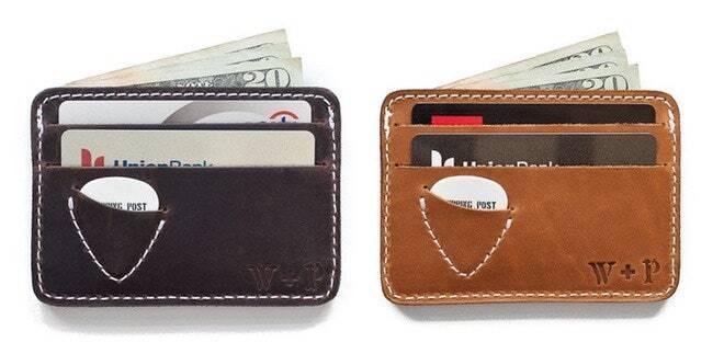 Бумажник для гитариста для хранения денег и медиатора