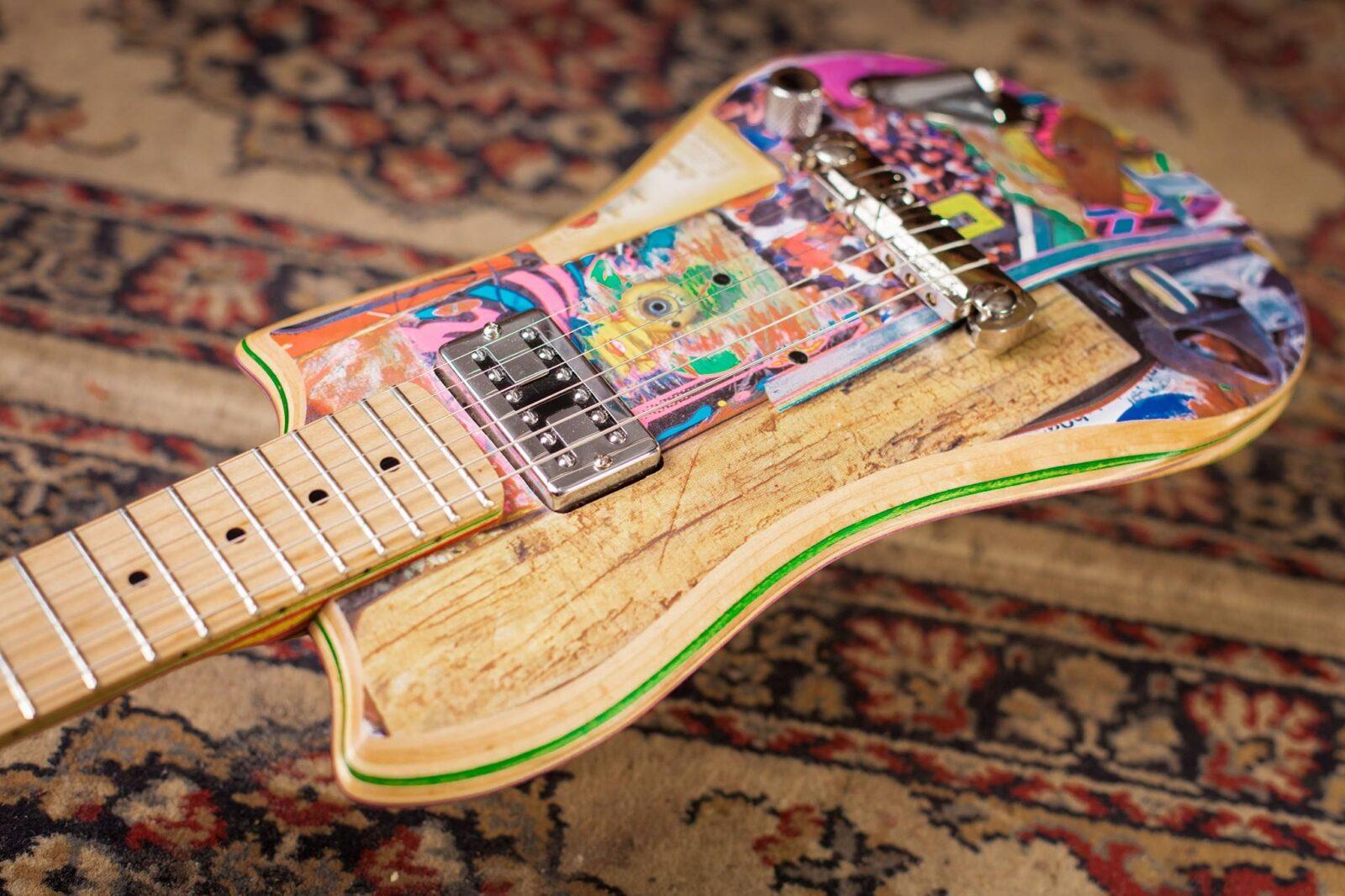 Гитары из скейтбордов: музыка на гребне скорости