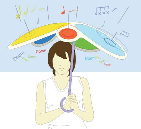 Rain Drum — зонт для барабанщиков