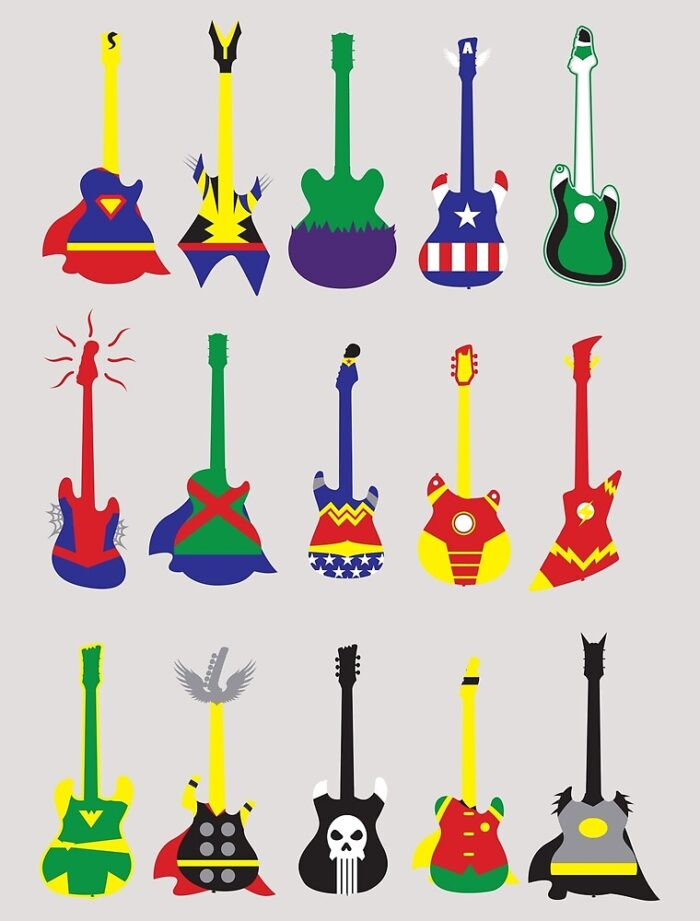 Супергерои и гитары